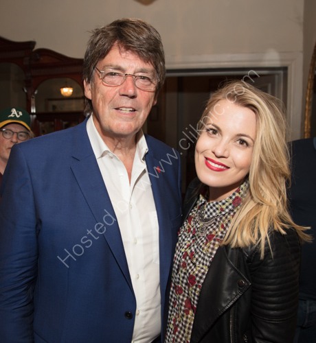 Mike Read with Mollie Marriott daughter of The Small Faces lead singer Steve Marriott