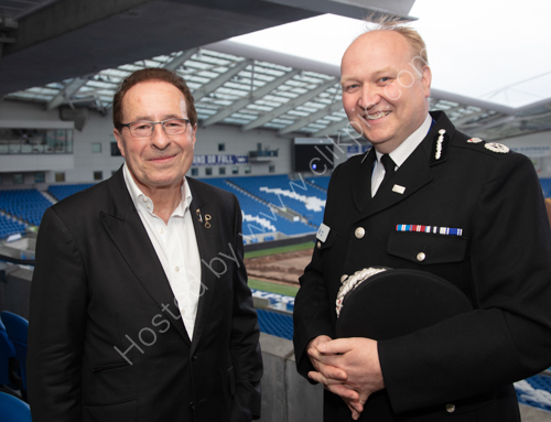 Peter James with Chief Constable