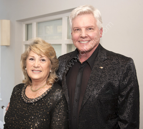 Singer and actor Jess Conrad OBE with wife Renee