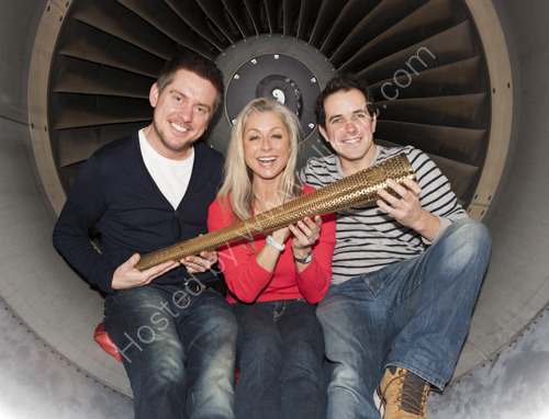 Susan Dando with Dick and Dom