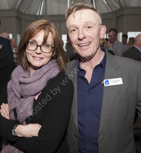 Annabel Giles with  Romany Mark Bruce