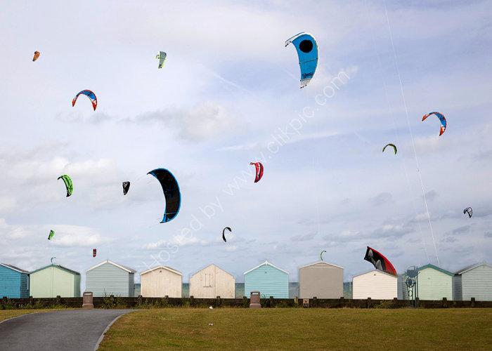Kites and Beach Huts