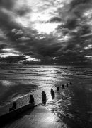 Moody Rustington Morning (b&w)