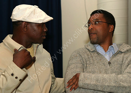 Chris Eubank with Michael Watson