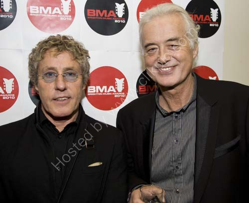 Roger Daltrey and Jimmy Page