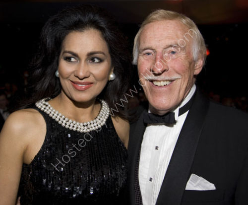 Bruce Forsyth and wife Winelia