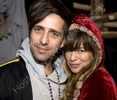 Jade Jagger with  Dan Williams