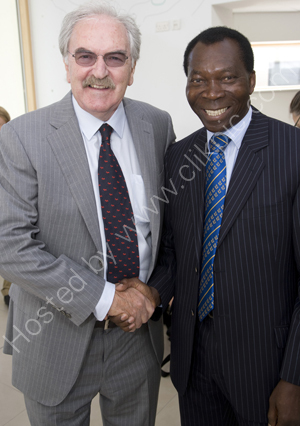 Des Lynam with Ambrose Harcourt