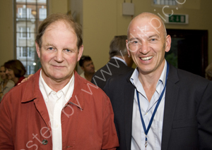 Michael Morpurgo author of War Horse with film producer Phil Grabsky