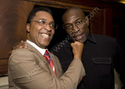 Michael Watson and Frank Bruno