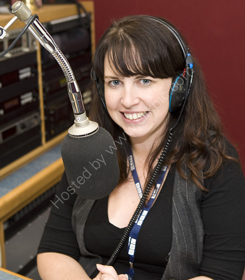 Alison Fearns at BBC Radio Sussex during our radio chat