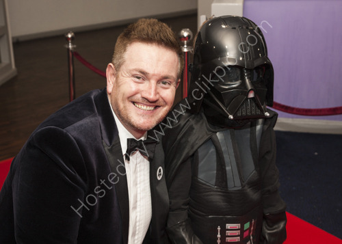 David Hill from E3 Group with a young Darth Vader