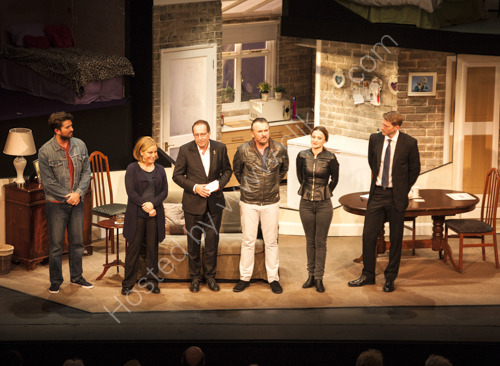 Peter James on stage at Theatre Royal