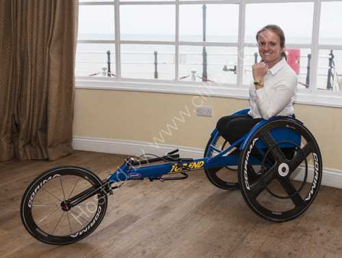 Lizzie Williams wheelchair for Olympics in Worthing Pier Southern Pavilion