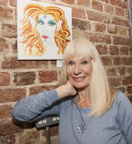 Carol Cleveland with her artwork