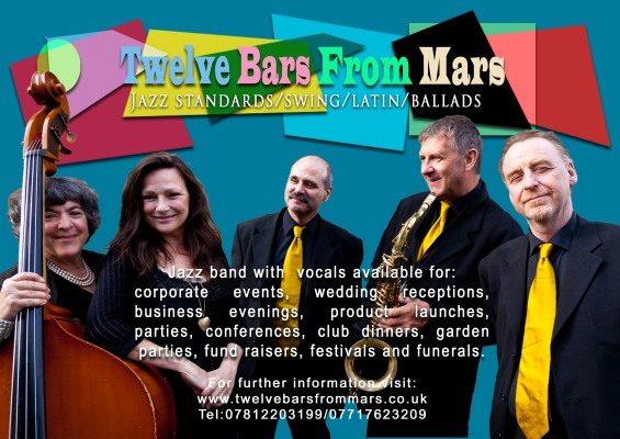 Flyer for jazz band 12 Bars From Mars