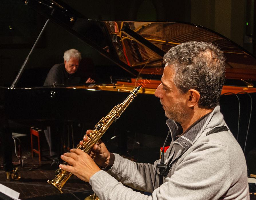 HCMF 2019 - Heiner Gobbels piano, Gianni Gebbia saxophone