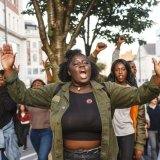 """Hands Up, Don't Shoot"" Black Lives Matter demo in Leeds"