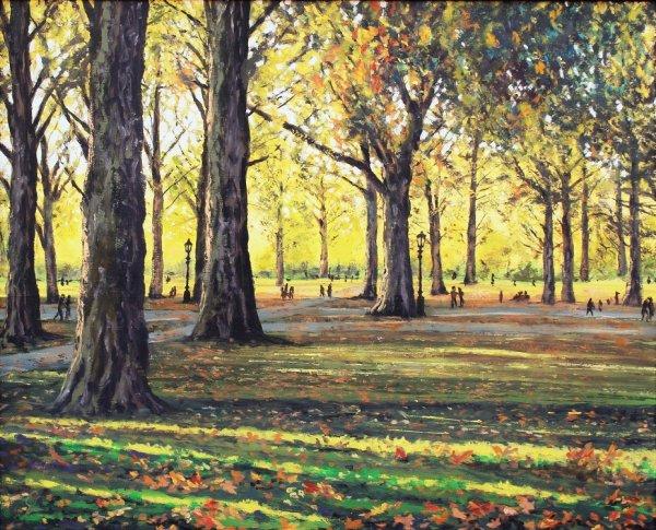 Autumn Sunlight in Green Park