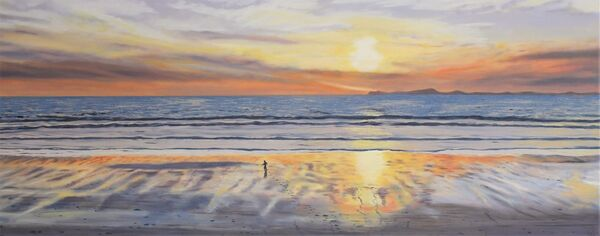 Boy On A Sunset Beach