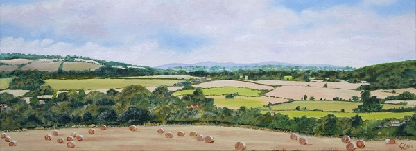 Distant Clee Hills Over Worcesteshire Countyside