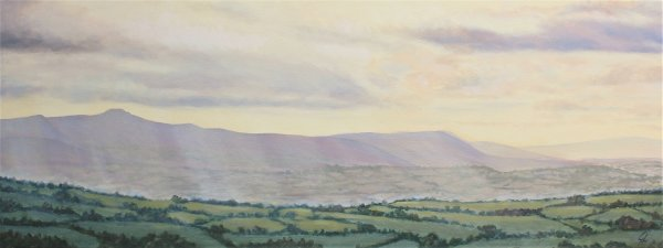 Evening light on the Brecon Beacons