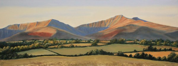 Morning sunlight on the Brecon Beacons
