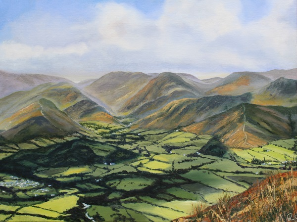 Newlands Valley & the Derwent Fells from Carl Side
