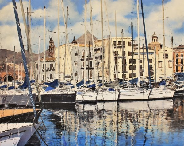 Yachts in Palermo Habour