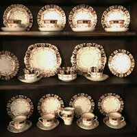 34 piece tea set