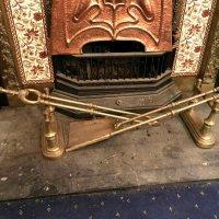 brass fire irons