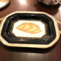 leaf serving plate