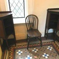 pair corner cabinets