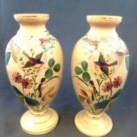 pair cream vases