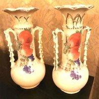 pair fruit vases