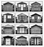 HC Mono Print - Beach Huts after Becher John Evans-Jones
