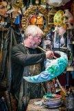 The mask maker Penry Archer