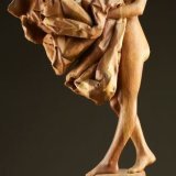 'The Comforter' Wood Carving