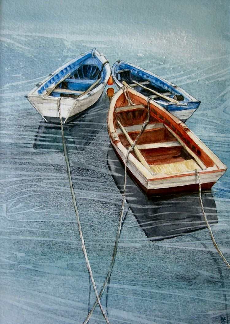 boats watercolor