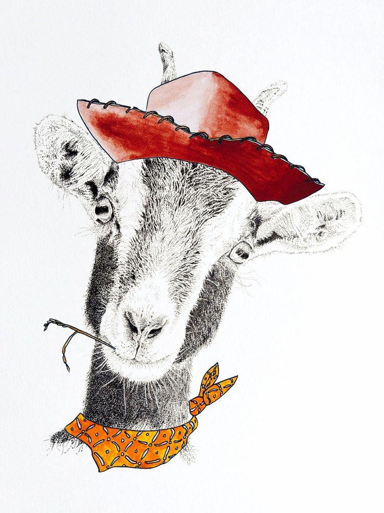 Billie the Kid, Goat, Stipple, Woody