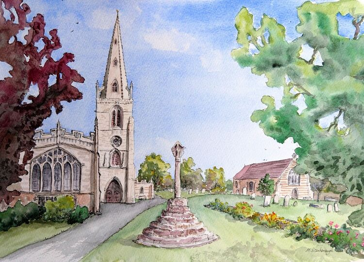 Higham Ferrers Mary's church, Grammar School and Bede House
