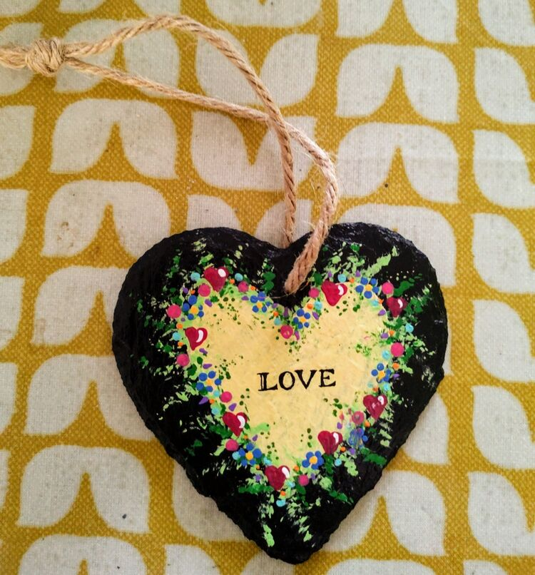 Slate, heart, craft, valentine, mother's day, love