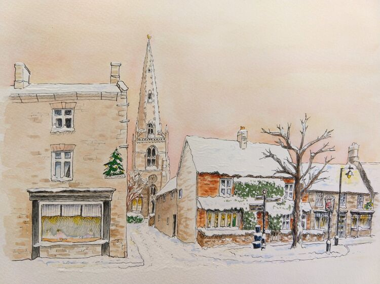 Higham in the snow.