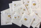 Hand painted Bee Cards