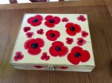 Hand painted wooden tea box