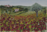 Poppies In Tuscany (sold)
