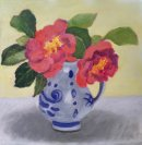 Camelias in the Delft Jug
