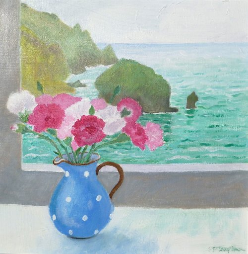 Carnations in the Torquay Jug