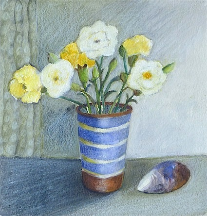 Flowers and Shell