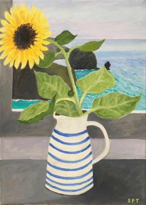 Sunflower in the Studio